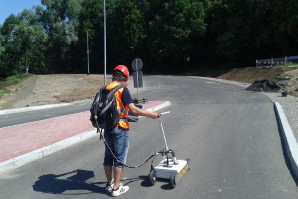 Georadar GPR metoda georadarowa geopartner geofizyka, Diagnostyka nawierzchni i podłoża dróg i linii kolejowych,Roads and railroads diagnostics