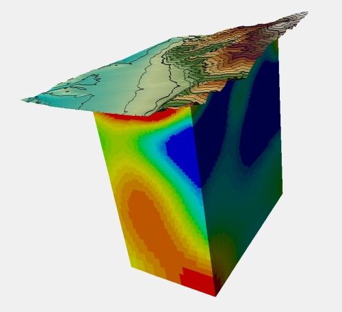 Model 3D prezentacja wyników badań sondowań magnetotellurycznych