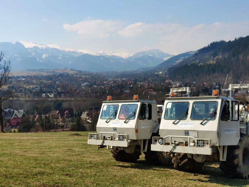 seismic surveys, seismic truck, vibroseis